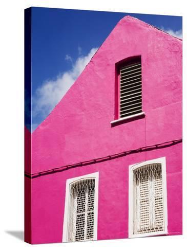 Pink Building on Republique Street, Fort-De-France, Martinique, French Antilles, West Indies-Richard Cummins-Stretched Canvas Print
