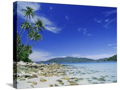 View from Kecil (Little) Towards Besar (Big), the Two Perhentian Islands, Terengganu, Malaysia-Robert Francis-Stretched Canvas Print