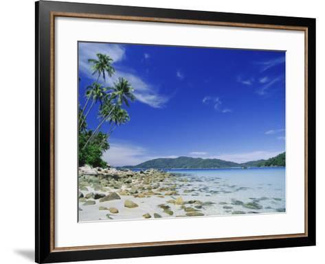 View from Kecil (Little) Towards Besar (Big), the Two Perhentian Islands, Terengganu, Malaysia-Robert Francis-Framed Art Print