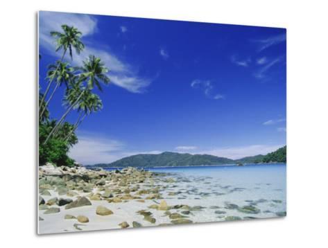 View from Kecil (Little) Towards Besar (Big), the Two Perhentian Islands, Terengganu, Malaysia-Robert Francis-Metal Print