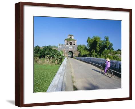 Walls of the Citadel, Historic Former Political Capital, Hue, Central Vietnam, Indochina-Robert Francis-Framed Art Print