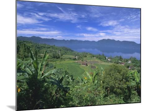 Rice Terraces on Eastern Shore of Crater Lake, Lake Maninjau, West Sumatra, Sumatra, Indonesia-Robert Francis-Mounted Photographic Print