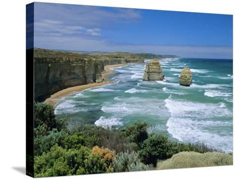 Sea Stacks at the Twelve Apostles on Rapidly Eroding Coastline, Victoria, Australia-Robert Francis-Stretched Canvas Print