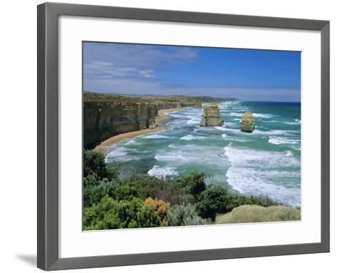 Sea Stacks at the Twelve Apostles on Rapidly Eroding Coastline, Victoria, Australia-Robert Francis-Framed Art Print