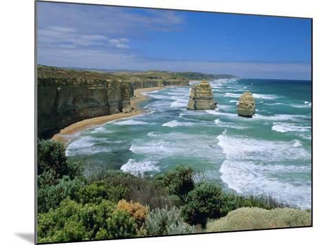 Sea Stacks at the Twelve Apostles on Rapidly Eroding Coastline, Victoria, Australia-Robert Francis-Mounted Photographic Print