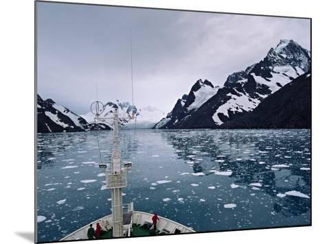 Bow of a Cruise Ship, Channel of the Southern Ocean with Antarctic Mountains-Charles Sleicher-Mounted Photographic Print