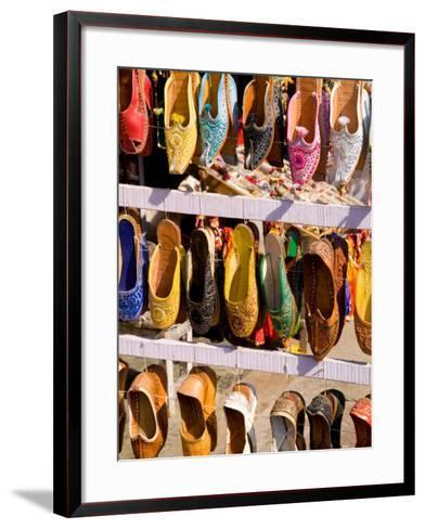 Shoes for Sale in Downtown Center of the Pink City, Jaipur, Rajasthan, India-Bill Bachmann-Framed Art Print