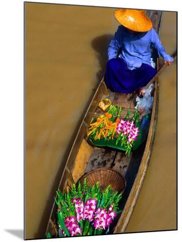 Floating Market, Damnern Saduak, Bangkok, Thailand-Bill Bachmann-Mounted Photographic Print