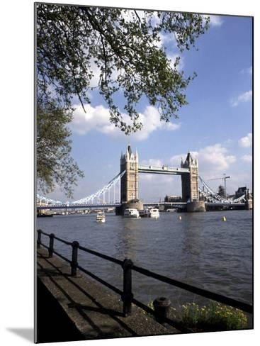 Tower Bridge over the River Thames, London, England-Bill Bachmann-Mounted Photographic Print