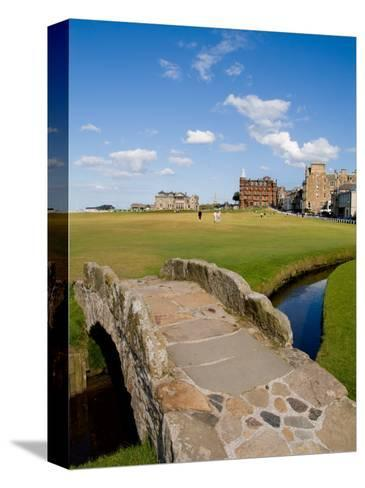 Golfing the Swilcan Bridge on the 18th Hole, St Andrews Golf Course, Scotland-Bill Bachmann-Stretched Canvas Print