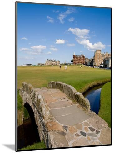 Golfing the Swilcan Bridge on the 18th Hole, St Andrews Golf Course, Scotland-Bill Bachmann-Mounted Photographic Print
