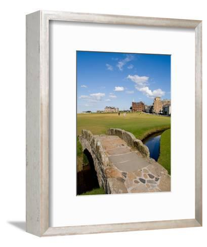 Golfing the Swilcan Bridge on the 18th Hole, St Andrews Golf Course, Scotland-Bill Bachmann-Framed Art Print