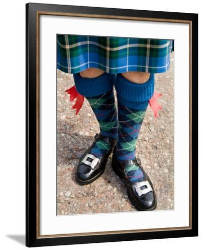 Bagpipe Player at the Loch Ness Area near Drumnadrochit Home, Scottish Highlands-Bill Bachmann-Framed Art Print
