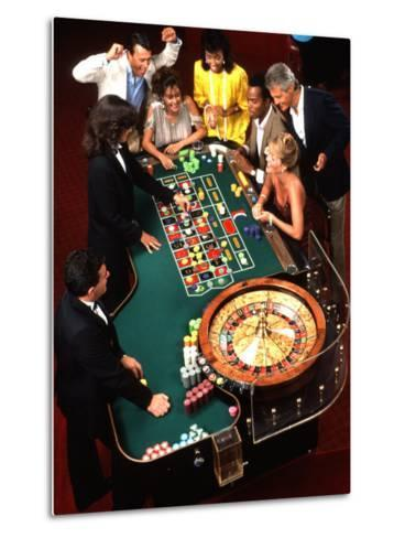 Mixed Ethnic Couples Enjoying Themselves in a Casino-Bill Bachmann-Metal Print
