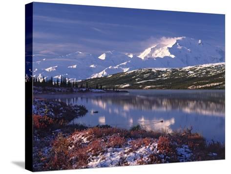 Wonder Lake at Dawn, Denali National Park, Alaska, USA-Charles Sleicher-Stretched Canvas Print