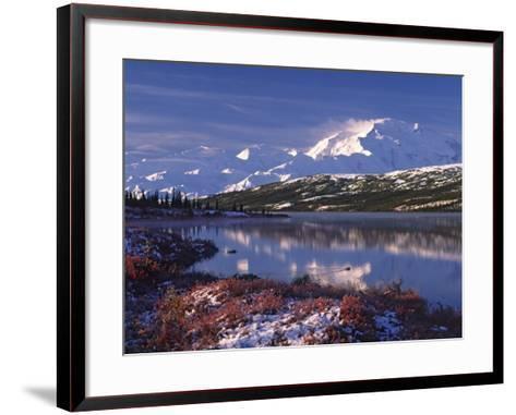Wonder Lake at Dawn, Denali National Park, Alaska, USA-Charles Sleicher-Framed Art Print