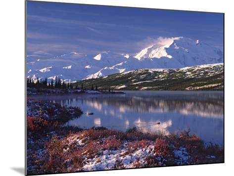 Wonder Lake at Dawn, Denali National Park, Alaska, USA-Charles Sleicher-Mounted Photographic Print