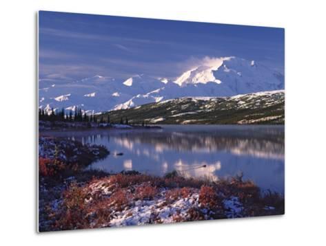 Wonder Lake at Dawn, Denali National Park, Alaska, USA-Charles Sleicher-Metal Print