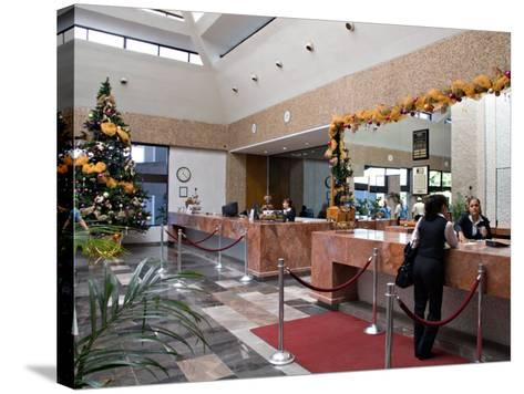 Lobby of the El Moro Beach Hotel, Mazatlan, Mexico-Charles Sleicher-Stretched Canvas Print