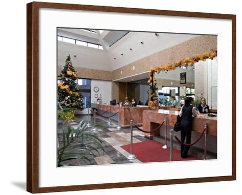 Lobby of the El Moro Beach Hotel, Mazatlan, Mexico-Charles Sleicher-Framed Art Print