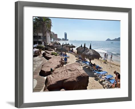 View of Playa Gaviotas at the El Cid Resort, Mazatlan, Mexico-Charles Sleicher-Framed Art Print