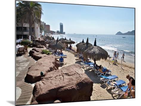 View of Playa Gaviotas at the El Cid Resort, Mazatlan, Mexico-Charles Sleicher-Mounted Photographic Print