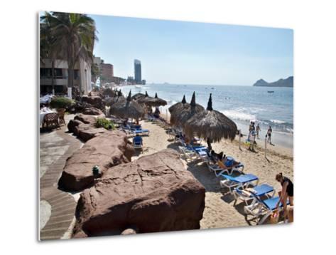 View of Playa Gaviotas at the El Cid Resort, Mazatlan, Mexico-Charles Sleicher-Metal Print