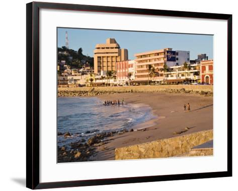 Beach at Olas Altas in Late Afternoon, Mazatlan, Mexico-Charles Sleicher-Framed Art Print