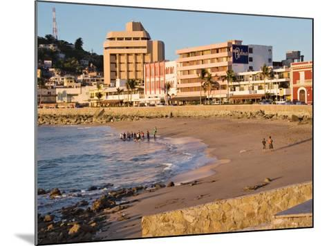 Beach at Olas Altas in Late Afternoon, Mazatlan, Mexico-Charles Sleicher-Mounted Photographic Print