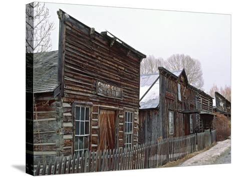Ghost Town of Nevada City, Montana, USA-Charles Sleicher-Stretched Canvas Print