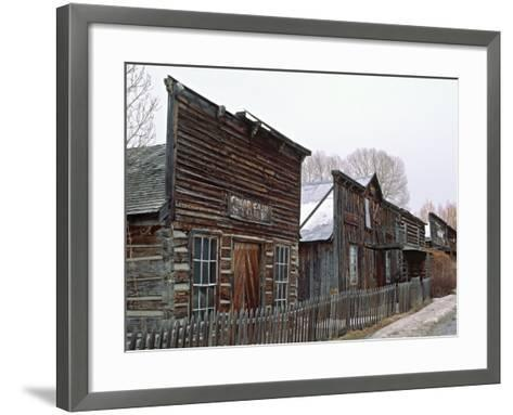 Ghost Town of Nevada City, Montana, USA-Charles Sleicher-Framed Art Print