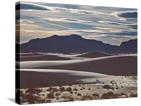 White Sands National Monument at Sunset, New Mexico, USA-Charles Sleicher-Stretched Canvas Print