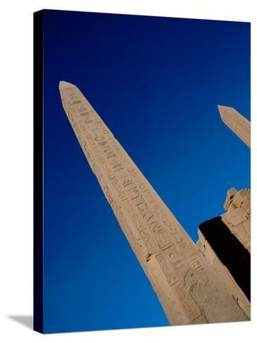 Hieroglyphic Covered Obelisk Towers over Karnak Ruins, Luxor, Egypt-Cindy Miller Hopkins-Stretched Canvas Print
