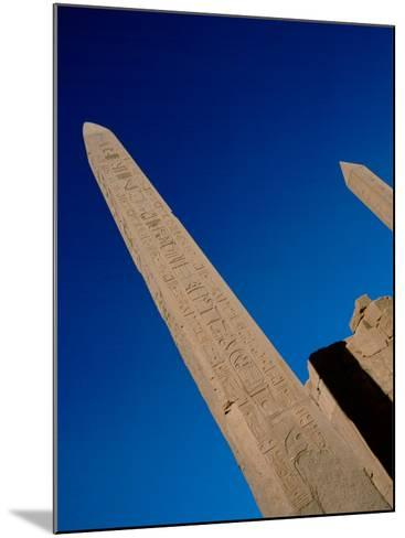 Hieroglyphic Covered Obelisk Towers over Karnak Ruins, Luxor, Egypt-Cindy Miller Hopkins-Mounted Photographic Print