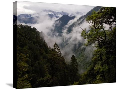 Traditional Home of the Lisu, Nu and Dulong Peoples, near Gongshan, China-Pete Oxford-Stretched Canvas Print