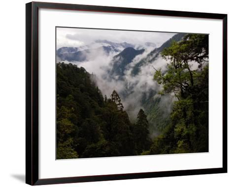 Traditional Home of the Lisu, Nu and Dulong Peoples, near Gongshan, China-Pete Oxford-Framed Art Print
