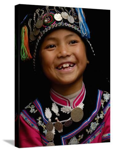 Hani People, Yuanyang, Honghe Prefecture, Yunnan Province, China-Pete Oxford-Stretched Canvas Print