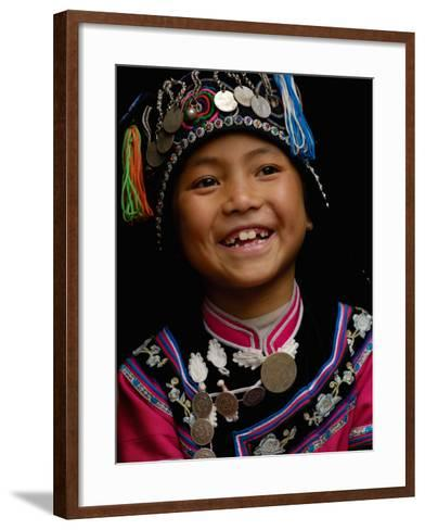 Hani People, Yuanyang, Honghe Prefecture, Yunnan Province, China-Pete Oxford-Framed Art Print