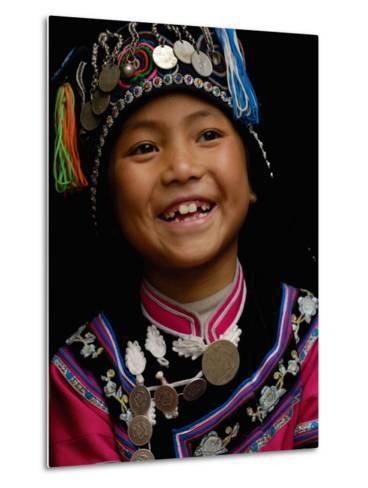 Hani People, Yuanyang, Honghe Prefecture, Yunnan Province, China-Pete Oxford-Metal Print