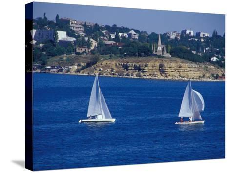 Sailboats in the Harbor Area, Port of Sevastopol, Black Sea, Sevastopol, Ukraine-Cindy Miller Hopkins-Stretched Canvas Print