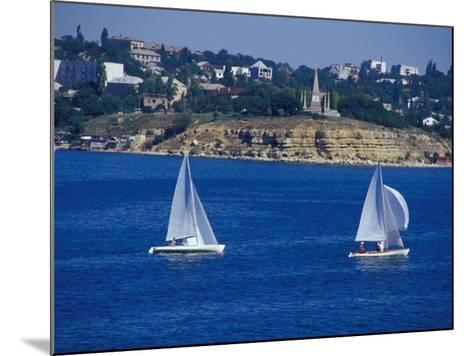 Sailboats in the Harbor Area, Port of Sevastopol, Black Sea, Sevastopol, Ukraine-Cindy Miller Hopkins-Mounted Photographic Print