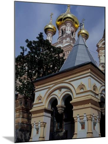 Gold Onion Dome of Alexander Nevsky Cathedral, Russian Orthodox Church, Yalta, Ukraine-Cindy Miller Hopkins-Mounted Photographic Print