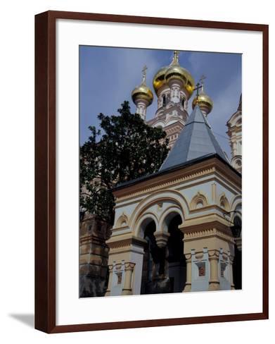 Gold Onion Dome of Alexander Nevsky Cathedral, Russian Orthodox Church, Yalta, Ukraine-Cindy Miller Hopkins-Framed Art Print