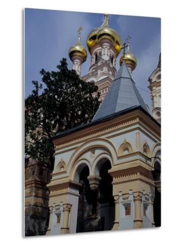 Gold Onion Dome of Alexander Nevsky Cathedral, Russian Orthodox Church, Yalta, Ukraine-Cindy Miller Hopkins-Metal Print