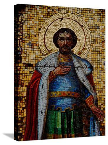 Mosaic Detail with Image of Christ, Alexander Nevsky Cathedral, Yalta, Ukraine-Cindy Miller Hopkins-Stretched Canvas Print