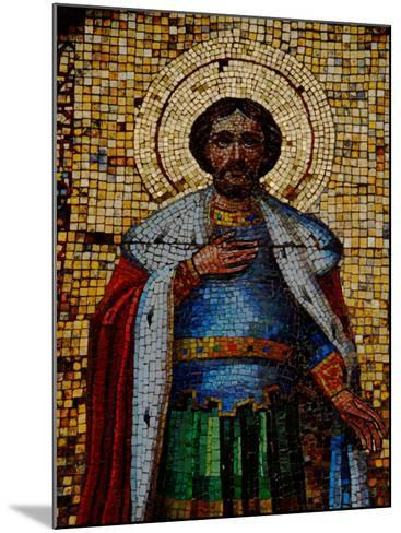 Mosaic Detail with Image of Christ, Alexander Nevsky Cathedral, Yalta, Ukraine-Cindy Miller Hopkins-Mounted Photographic Print