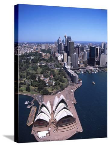 Opera House and Sydney Harbor Bridge, Australia-David Wall-Stretched Canvas Print
