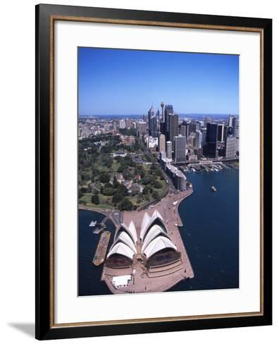 Opera House and Sydney Harbor Bridge, Australia-David Wall-Framed Art Print