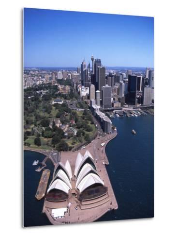 Opera House and Sydney Harbor Bridge, Australia-David Wall-Metal Print