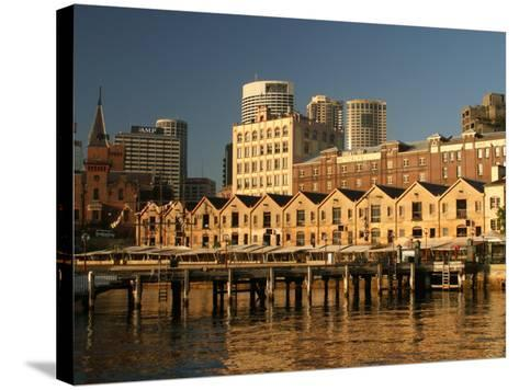 Historic Buildings, The Rocks, Sydney, Australia-David Wall-Stretched Canvas Print